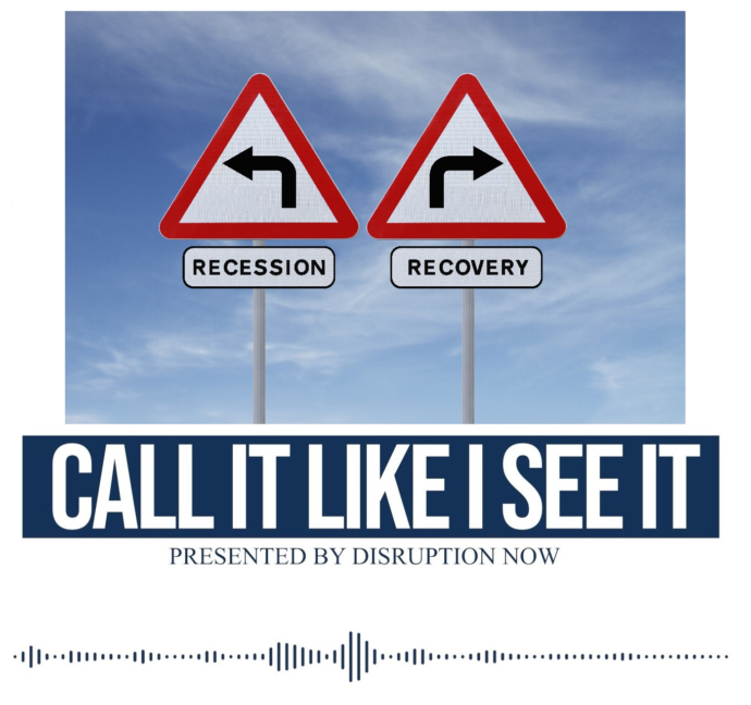 Crossroads of economic recession and recovery